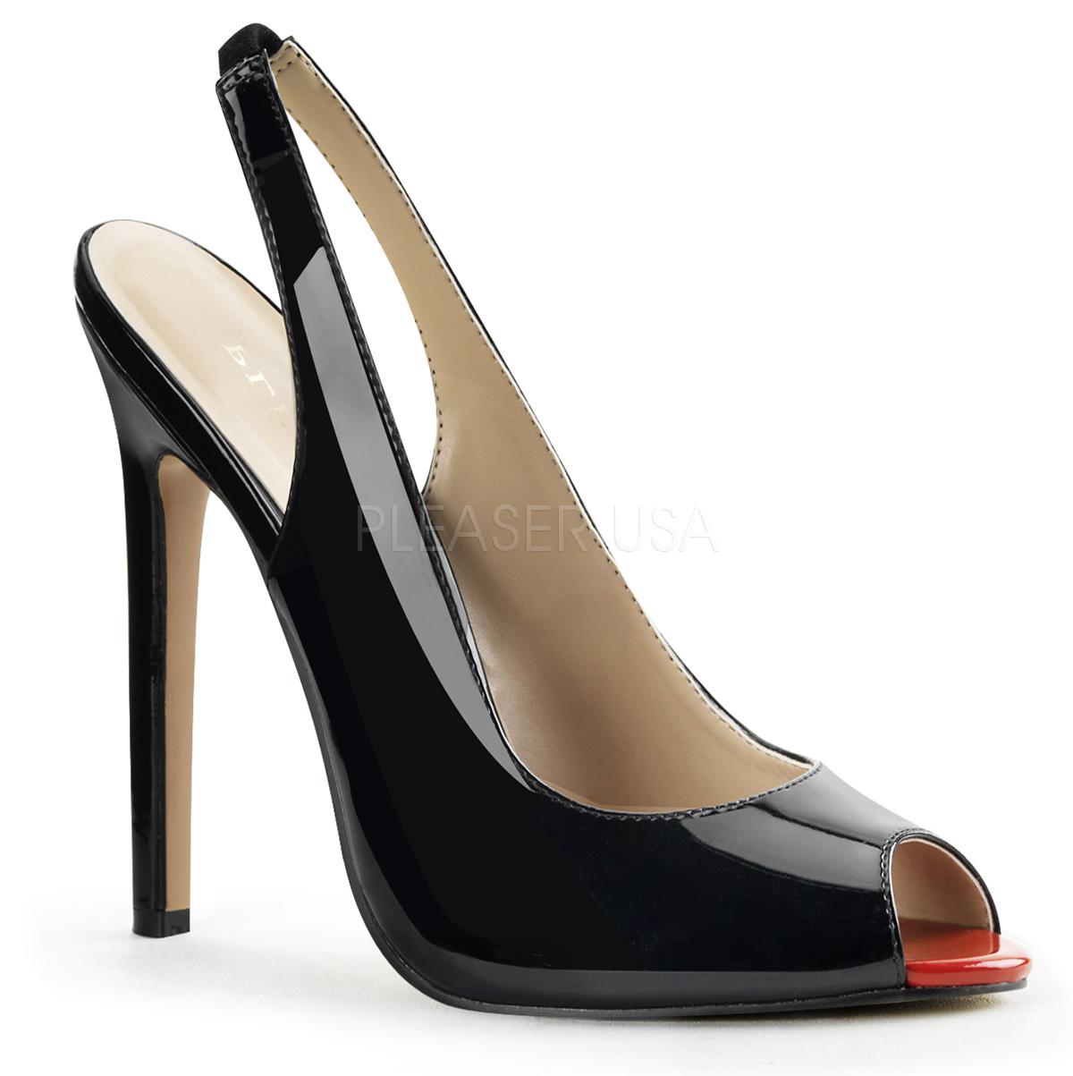 new style b9d88 9ac62 Peep Toe High Heels schwarz SEXY-08